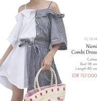 Terusan Wanita - Nioni Combi Dress