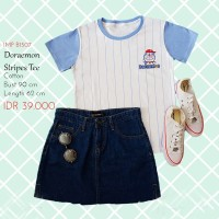 Kaos Wanita - Doraemon Stripe Tee