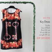 Terusan Wanita - Key Silky Black Dress