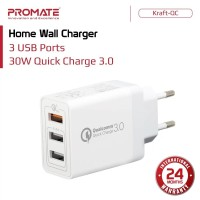 Promate Home Wall Charger - Kraft-QC Quick Charge 3.0 USB Ports