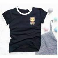 RINGER TEE Baby Milo tumblr tee t-shirt murah Kaos adem