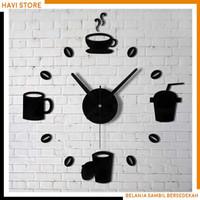 Jam Dinding Unik - Model Cafe Kopi