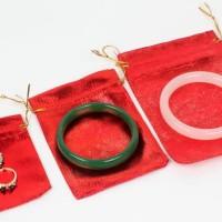 terbaru!!! kantong kain gelang emas perhiasan produk import