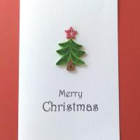kartu ucapan natal christmas tree