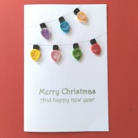 kartu ucapan natal christmas bulb