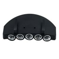 Senter LED Klip Topi 5 Lampu Flash Mancing
