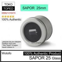 Authentic Wotofo SAPOR 25 Replacement Glass 25mm kaca pengganti vape