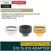 Authentic Avocado 510 To 810 Drip Tip Adapter heat sink driptip