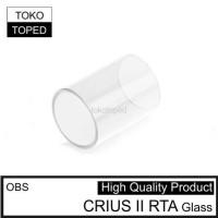 OBS CRIUS II RTA Replacement Glass 25mm 3.5ml 2 kaca pengganti 25