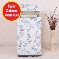 JE Cover Sarung Pelindung Mesin Cuci Motif C06 Bahan Satin Tebal Anti