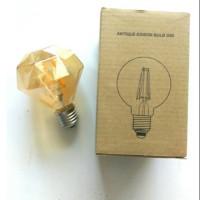 lampu Led Filamen Retro Classic Edison bulb G80 4 watt kuning