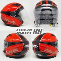 Helm Zeus 610 OO17 Bk Red Glossy
