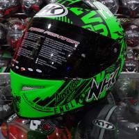 """Helm NHK Terminator Racing """"Big Ben Tower"""" Green Fluo Doff / Black"""
