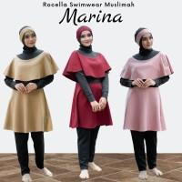 Setelan Baju Renang + Rocella Swimwear Marina S_XL + Baju Renang Ori - Biru, S