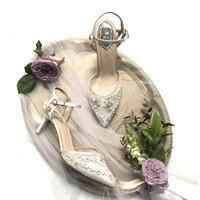 Nabila White Wedding shoes 7cm