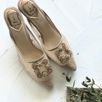 Naveena Nude Party shoes 7 cm