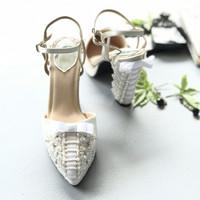 Rumi White Block heel Wedding shoes 11.5cm