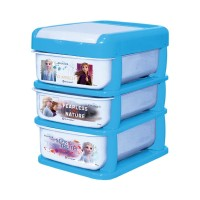 Technoplast STATIONERY DRAWER Laci susun 3 design Disney Frozen thumbnail