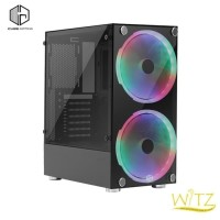 CUBE GAMING WITZ with 2PCS 20CM RAINBOW RGB FAN