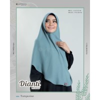 Khimar Dianti Turqoise by YASMEERA khimar instant wollycrepe
