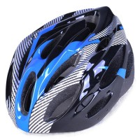 TaffSPORT Helm Sepeda EPS Foam PVC Shell - x10 - Blue