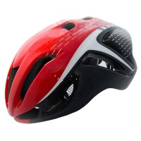 Locle Helm Sepeda - Red/White