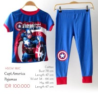 Piyama Anak Laki Laki - Glow In The Dark GW Captain America