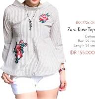 Atasan Blouse Wanita - Zaaraa Rose Top