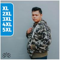 JAKET ZIPPER LORENG ARMY PRIA JUMBO BIG SIZE BAHAN KATUN PRIA XL-5XL