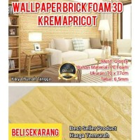 Krem Apricot 70 x 77cm - Wallpaper Foam 3D Embos Bata-Limited Edition