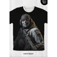 Kaos Anak & Dewasa - Game Call Of Duty - Ghost Ready