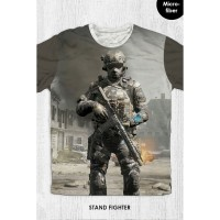 Kaos Anak & Dewasa - Game Call Of Duty - Stand Fighter