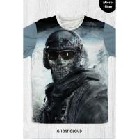 Kaos Anak & Dewasa - Game Call Of Duty - Ghost Cloud