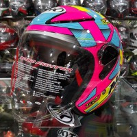 Helm NHK R6 Motif Cube SE Pink Fluorence / Yellow