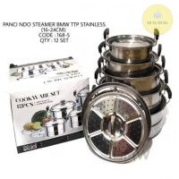 PANCI SET BMW 5pcs | STEAMER SET BMW TUTUP STAINLESS