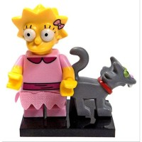 Lego Minifigures Simpsons 2 Lisa Simpson with Baseplate