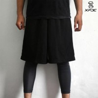 TERMURAH Leg sleeve XPDC ( black ) basketball cycling outdoor sports -