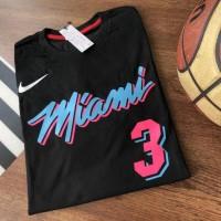 TERBARU Miami heat tshirt / wade tshirt / kaos nba / kaos basket