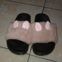 sandal bulu anak wanita