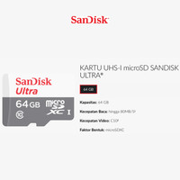 SanDisk Ultra micro SDXC HOT SALE 64GB 80MB/s