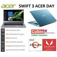 """LAPTOP ACER SWIFT 3 SF314-41 - ATHLON 300U/4GB/256GB SSD/14""""FHD/WIN10"""