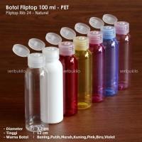 Botol Fliptop 100ml PET   Tutup Fliptop Natural Diskon