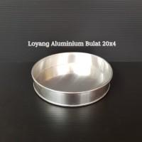 LOYANG BULAT ALUMUNIUM UK 20 CM (LY20X4) CETAKAN / LOYANG KUE BULAT