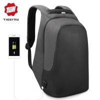 TIGERNU Anti Theft Backpack with Audio Jack Port T-B3615B - Hitam