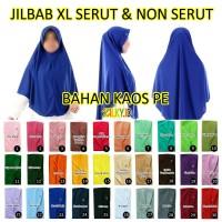 Hijab Jilbab Kaos Instan XL Tali Serut Jumbo Besar SMA Remaja Dewasa