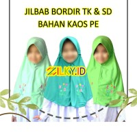Hijab Jilbab Instan Bordir Kaos Tali Serut Instant Anak Sekolah TK SD