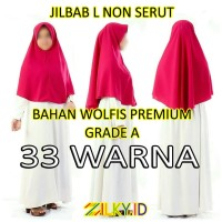 Hijab Jilbab Wolfis L Instan Instant Anak Sekolah SMP SMA Remaja