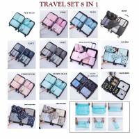 Travel set 8 in 1 bag organizer / tas penataan koper