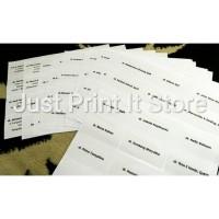 Print / Cetak Label Undangan Transparan No.103 Termurah