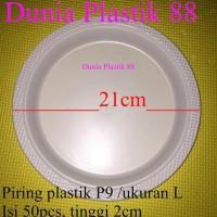 @50PC P9 PIRING plate makan PLASTIK BESAR putih susu acara party kue